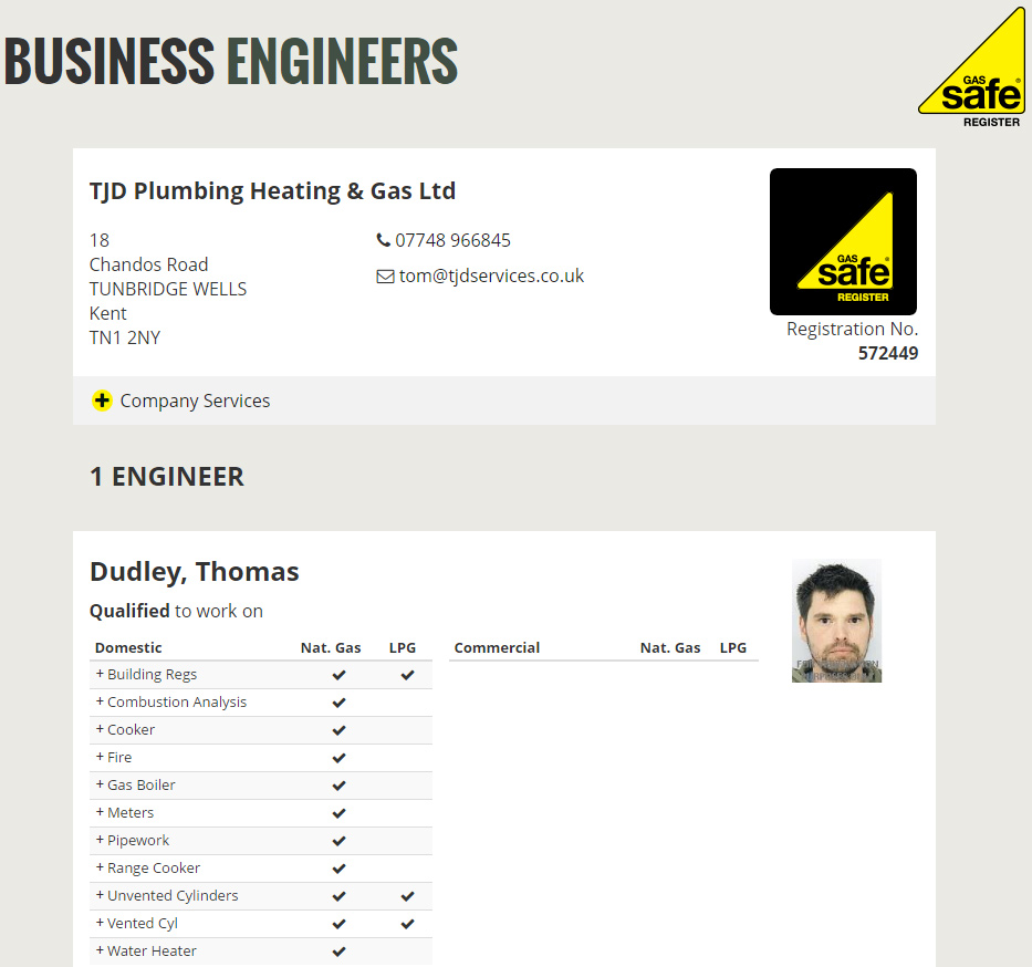 gas safe tunbridge wells